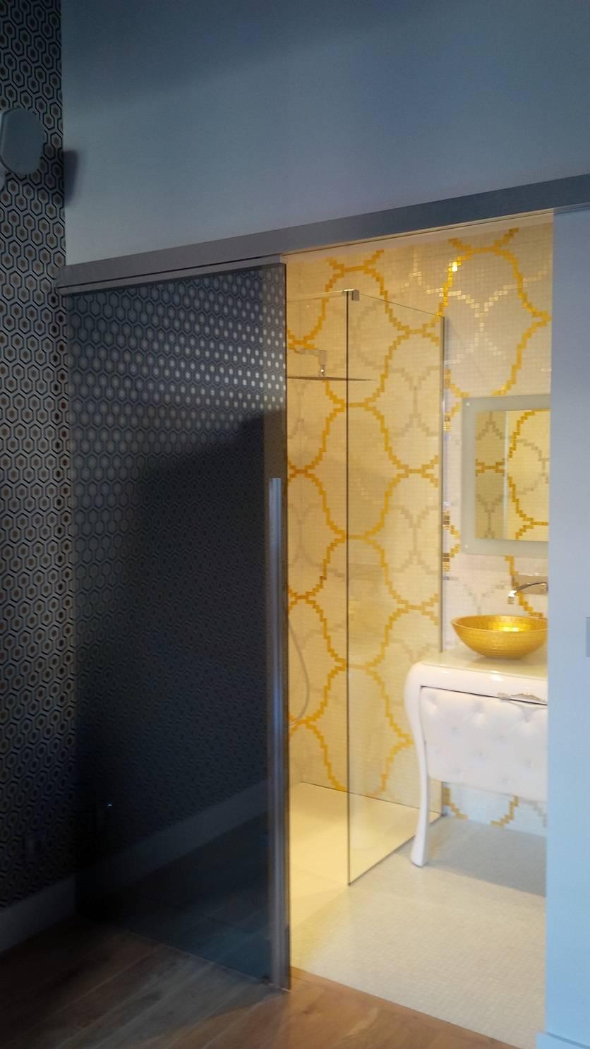 salle d 39 eau mosa que feuille d 39 or bisazza vasque dor e. Black Bedroom Furniture Sets. Home Design Ideas